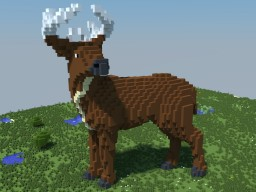 White-Tailed Deer Minecraft Map & Project