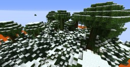 Lava River Custom Terrain Minecraft Map & Project