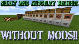How to Build an Automatic Record Selector and Player Without Mods Minecraft Map & Project