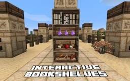 Interactive Bookshelves Datapack! (100% Vanilla, no Mods) Minecraft Map & Project