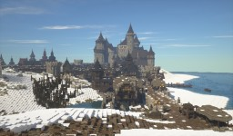 Dark Medieval City & Vampire Castle [Conquest Reforged] Minecraft