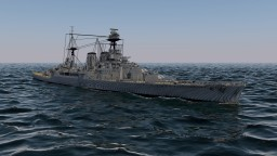 HMS Hood - 4:1 Scale Minecraft Map & Project