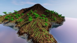 Volcano island, 2k*2k - Terraforming Contest Minecraft Map & Project