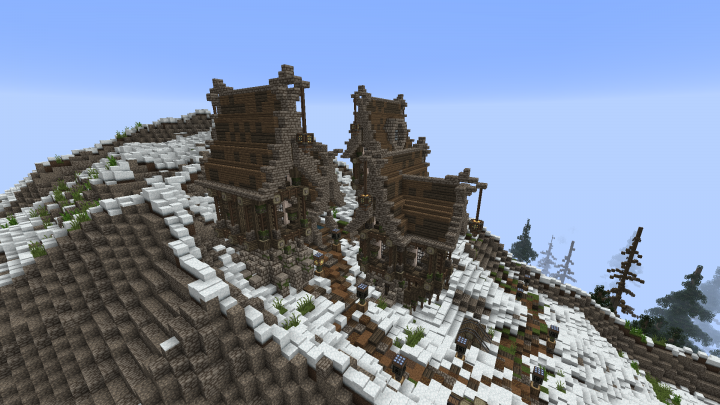 Small Village Steampunk In The Mountains Minecraft Project