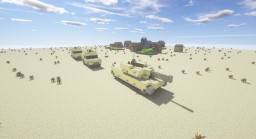 M1 Abrams Tank (WITH DOWNLOAD) - Default Textures Minecraft Map & Project