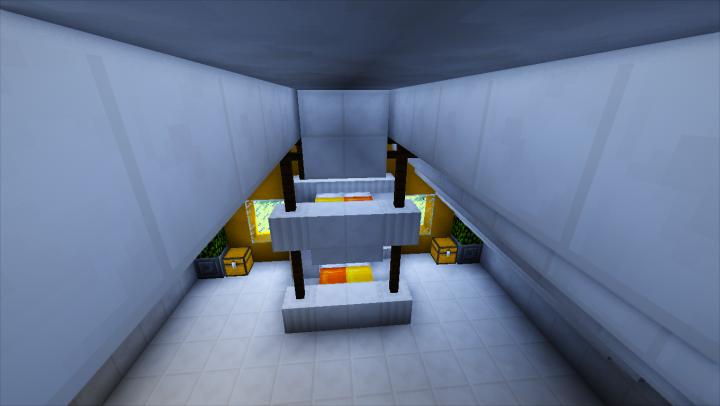 Habitacin principal con litera doble, que incluye luz nocturna y televisin