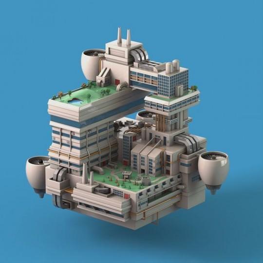 minecraft futuristic building