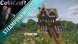 Steampunk styled house + schematic Minecraft Map & Project