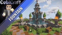 Medieval/Rustic/Fantasy fountain + Schematic Minecraft