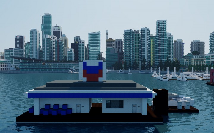 A floating boat fueling station