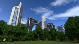 Hyper futuristic city Minecraft Map & Project