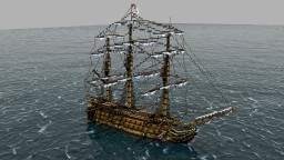 HMS Invincible - My first ever 1st rate ship of the line! (fictional) FULL INTERIOR Minecraft Map & Project