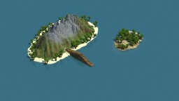 Shipwreck on the island Minecraft