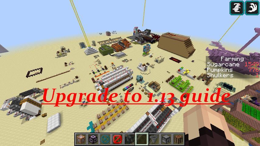 minecraft update 1.13.1