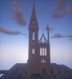 Zagreb Cathedral, Croatia Minecraft Map & Project