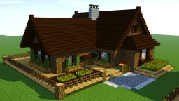 How to build a Wooden cabin Minecraft Map & Project