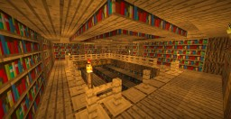 Underground Library Minecraft Map & Project
