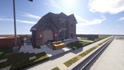 Traditional American House | Blueprint Minecraft Map & Project