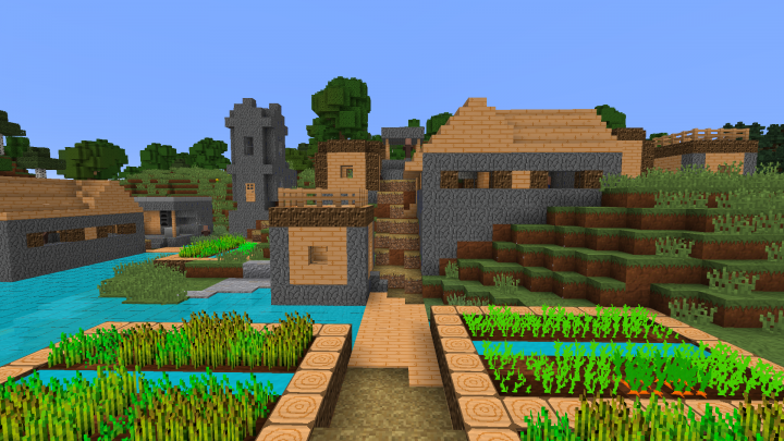 What villages now look like.