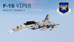 "General Dynamics F-16 Fighting Falcon ""Viper"" 1,5:1 Minecraft Map & Project"