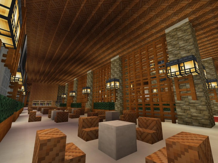 Japanese inspired hotel minecraft project for Design hotel japan