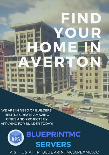 Popular Server Project : The Blueprint Build Team Presents - Averton - Custom Realistic City Project