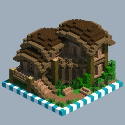 Jungle hut [CHUNK HOUSE] Minecraft Map & Project