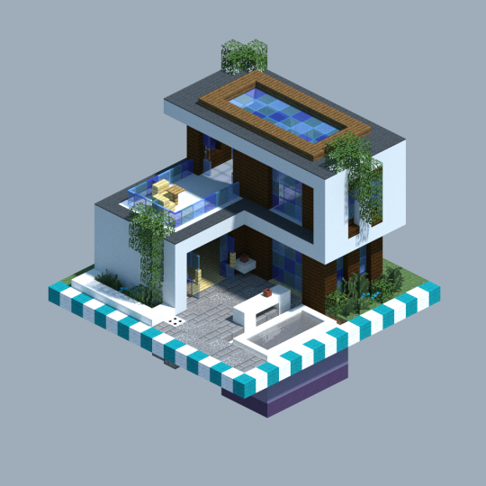 Modern House [CHUNK HOUSE] Minecraft Project