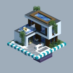 Modern House [CHUNK HOUSE] Minecraft Map & Project