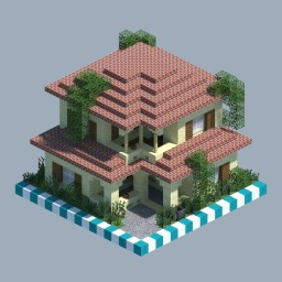 Italian House [CHUNK HOUSE] Minecraft Map & Project