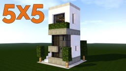 SMALL MODERN HOUSE 5X5 Minecraft Map & Project