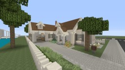 Small Light Gray Suburban House Minecraft Map & Project