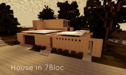 House in 7Bloc / Modern Realism / WoK Minecraft Map & Project