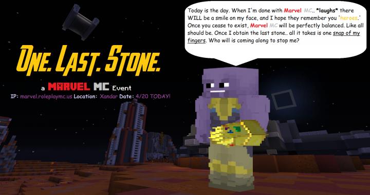 Popular Server Project : Marvel MC: One. Last. Stone - Comeback Event!