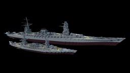 IJN Battleship Izumi - 1:3 Scale Minecraft Map & Project