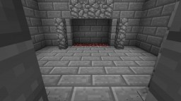 Seamless Fireplace Hidden Door Minecraft Map & Project