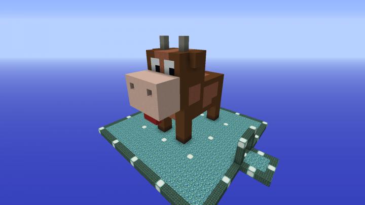 3d Pixelart Cow Minecraft Project