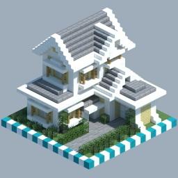 Suburban House [CHUNK HOUSE] Minecraft Map & Project