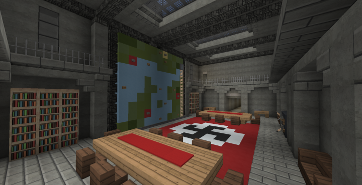 Operations Room, with Map Wall