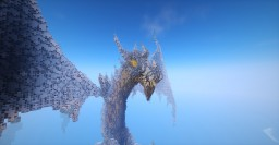 Viserion the Ice dragon Minecraft Map & Project