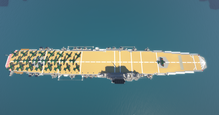 WWII Japanese Aircraft Carrier Minecraft Project