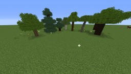 The default look of Minecraft + Bushy Leaves Minecraft Texture Pack
