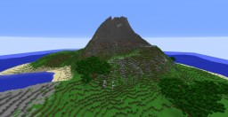 Large Survival Island with Volcano and Custom Trees Minecraft