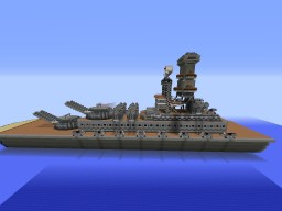 Battleship Cruiser Minecraft Map & Project
