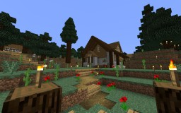 Simple Survival Home in Taiga Minecraft Map & Project