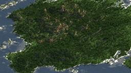 Big tropical island - WorldPainter 5000x5000 Minecraft
