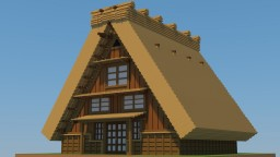 合掌造り(Gassho tsukuri) japanese house. Minecraft