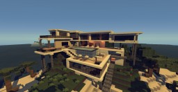 Beach Side Modern House Minecraft Map & Project