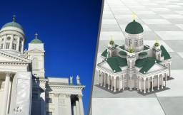 Helsinki Cathedral Minecraft