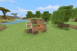 Ultra Dirt House PE Minecraft Map & Project